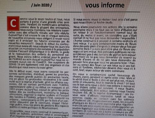 La Roche-Jaudy vous informe N°2 – 09/2020