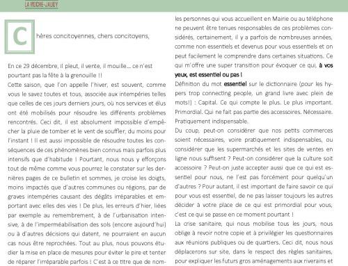 La Roche-Jaudy vous informe N°3 – 01/2021