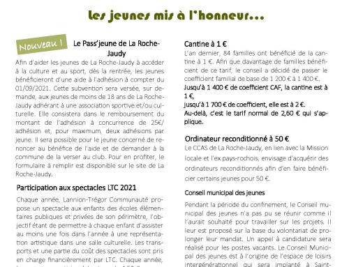 La Roche-Jaudy vous informe N°6 – 09/2021